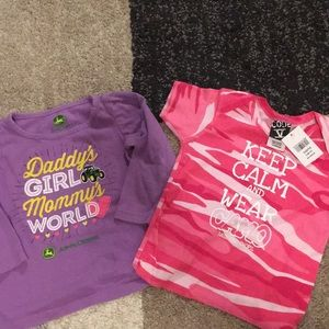 18 Month Girls Shirts John Deere & Camo Bass Pro